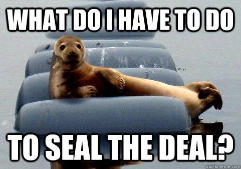 Seal the Deal meme