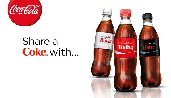 Coca Cola Share a Coke Campaign