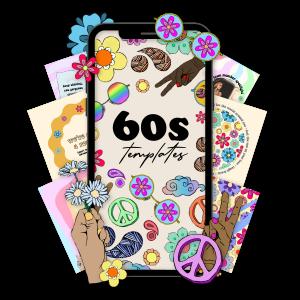 60s branding, 60s aesthetic, digital marketing, branding, retro branding, retro content, hippie aesthetic, content creation, digital marketing