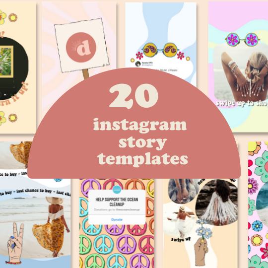 60's aesthetic template gallery image for retro canva templates