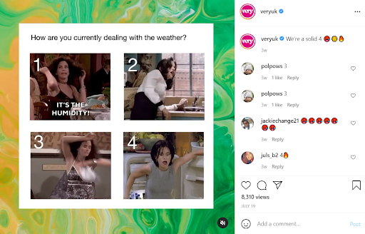 A meme of Monica from friends reacting in various flustered ways to a heat wave